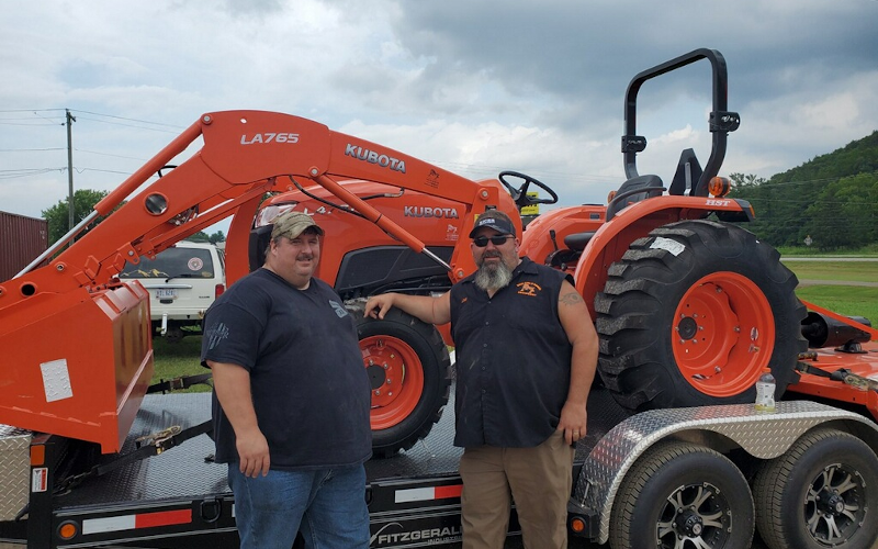 Tuffy Oyer With His New Kubota L4701